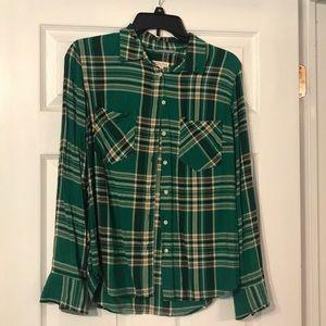 Merona flannel button up shirt - women's medium